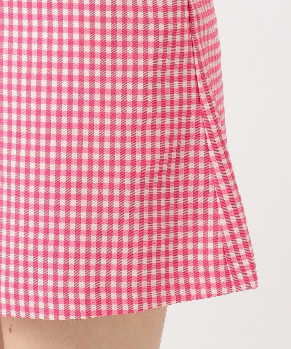 23区GOLF 【WOMEN】【ストレッチ】ストレッチギンガムチェック スカート ピンク系3