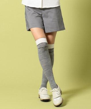 23区GOLF 【WOMEN】【ストレッチ】ストレッチギンガムチェック スカート ネイビー系3