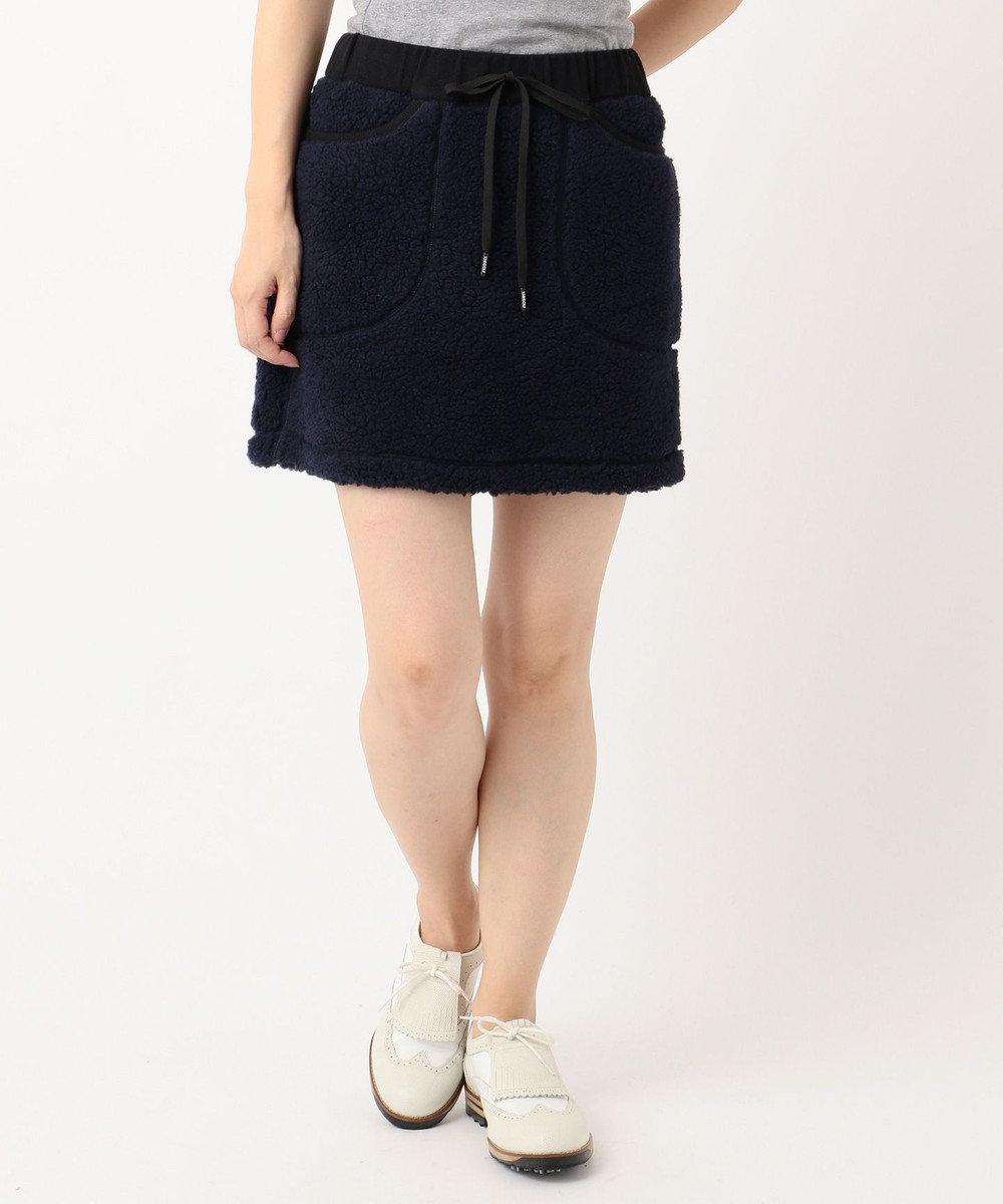 23区GOLF 【WOMEN】ヒートウォームシープボア スカート ネイビー系