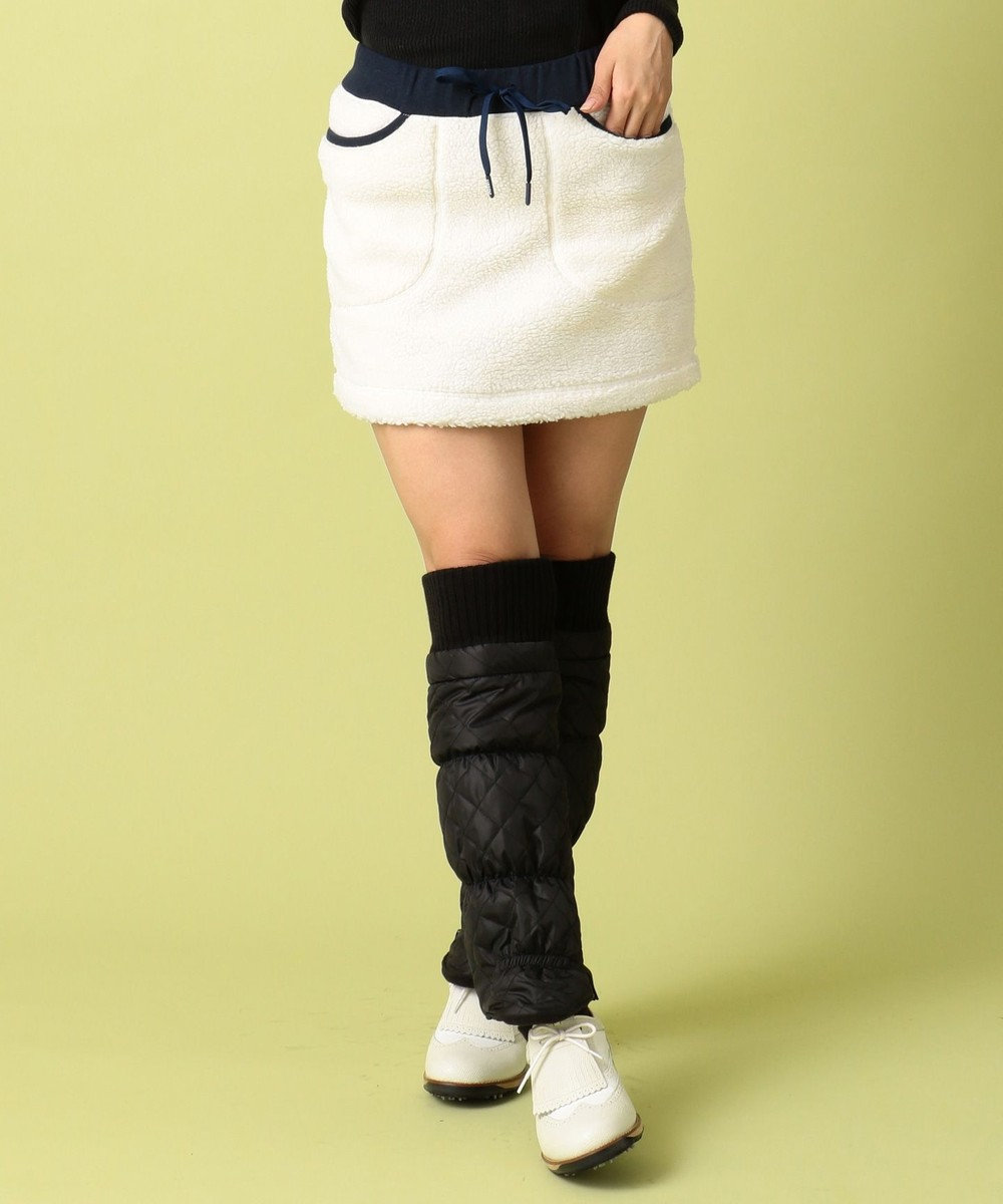 23区GOLF 【WOMEN】ヒートウォームシープボア スカート ホワイト系