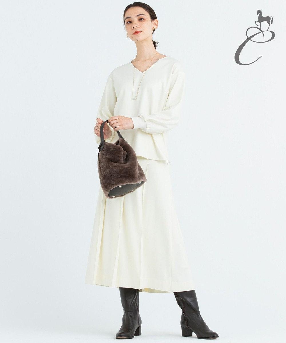 自由区 【Class Lounge】SILKY SMOOTH スカート アイボリー系
