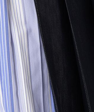 自由区 【Class Lounge】COTTON ACETATE DENIM スカート ネイビー