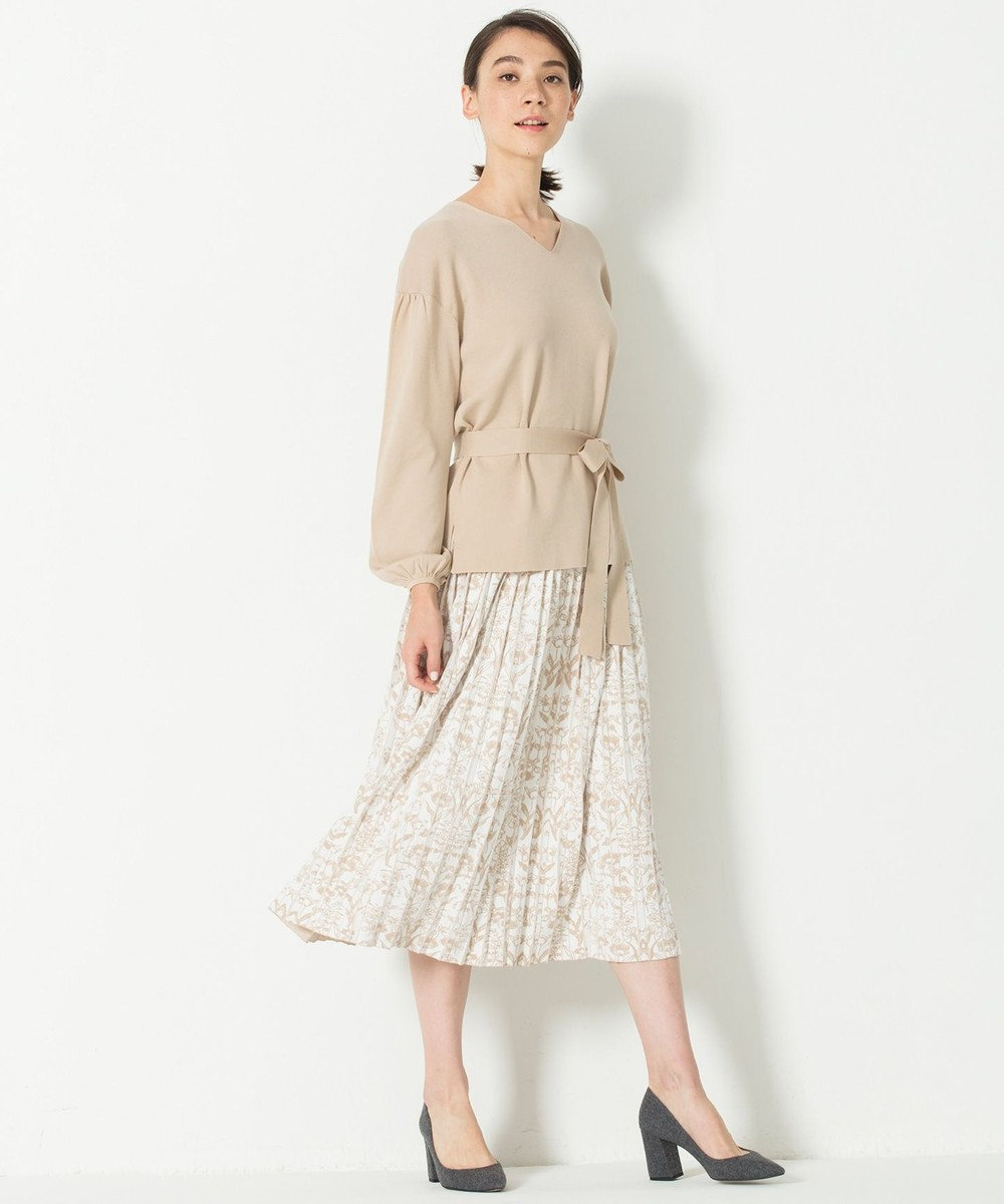 自由区 【Class Lounge】THIN ニットスカート ベージュ系5