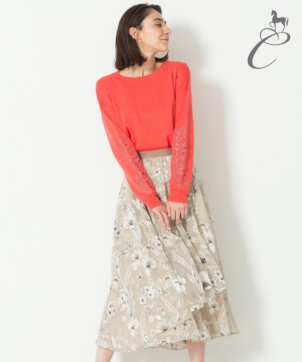 自由区 【Class Lounge】LETI PRINT スカート ベージュ系5