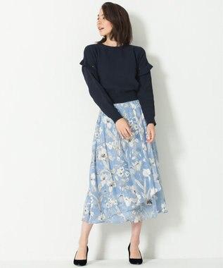 自由区 【Class Lounge】LETI PRINT スカート スカイブルー系5
