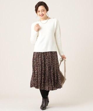 組曲 L 【KUMIKYOKU×JUN OKAMOTO】プリントプリーツ スカート ネイビー系5