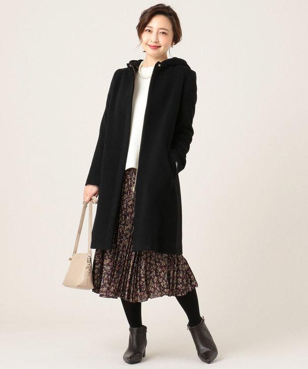 組曲 L 【KUMIKYOKU×JUN OKAMOTO】プリントプリーツ スカート