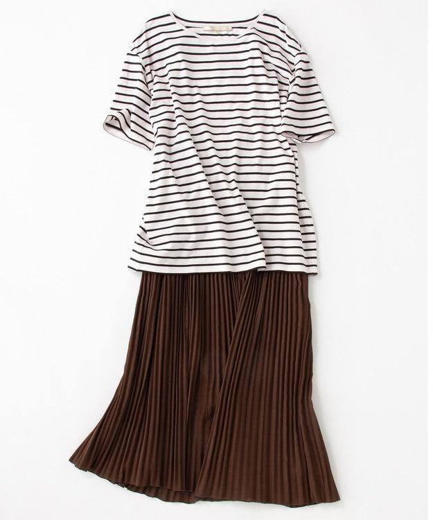 自由区 カラミプリーツ ロングスカート