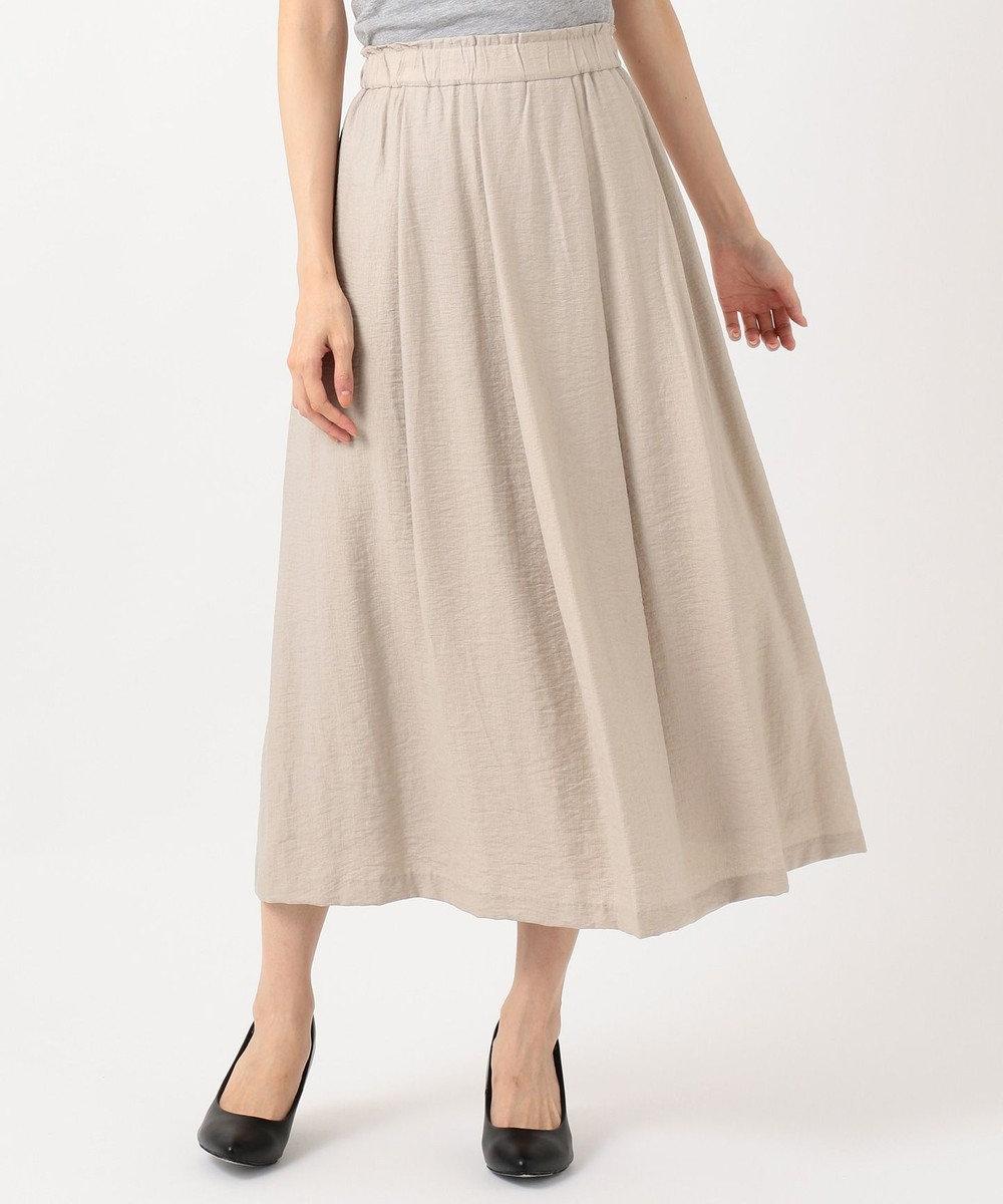 自由区 L 【洗える】2WAYカラー スカート ライトグレー系