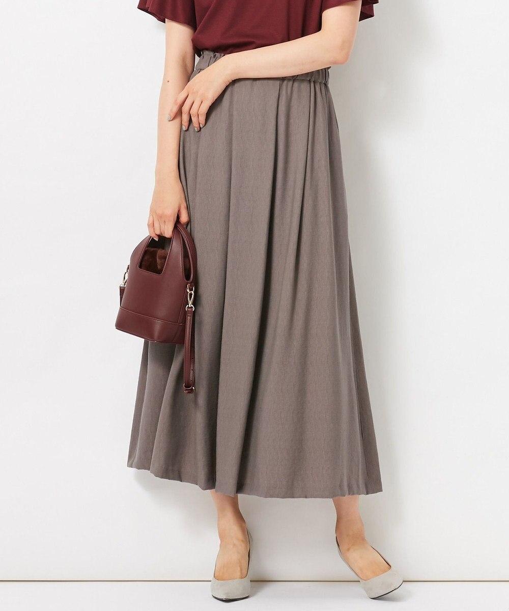 自由区 L 【洗える】2WAYカラー スカート グレー系