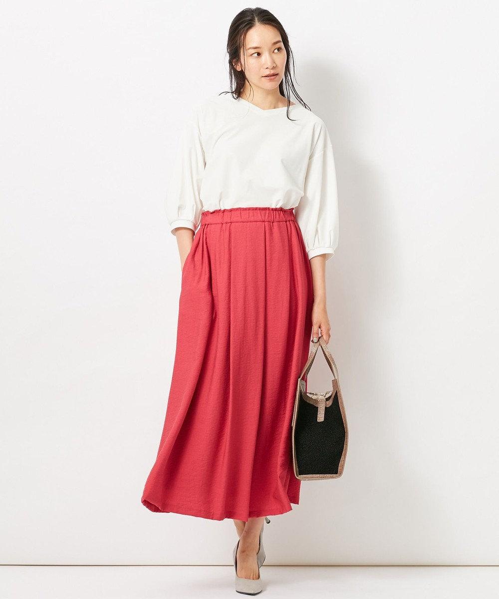 自由区 L 【洗える】2WAYカラー スカート ローズ系