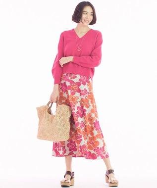 自由区 【マガジン掲載】SAKURA ジャカード リバーシブルスカート(検索番号E42) ローズ系6