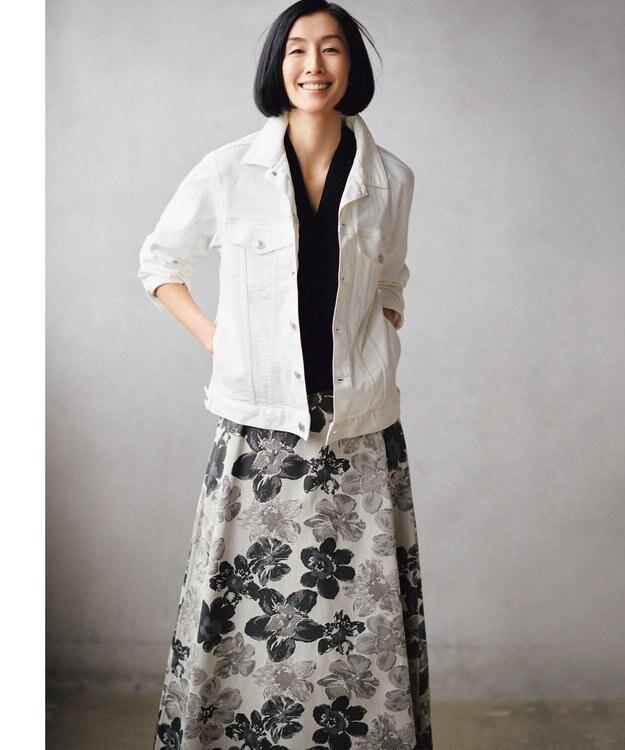 自由区 【マガジン掲載】SAKURA ジャカード リバーシブルスカート(検索番号E42)