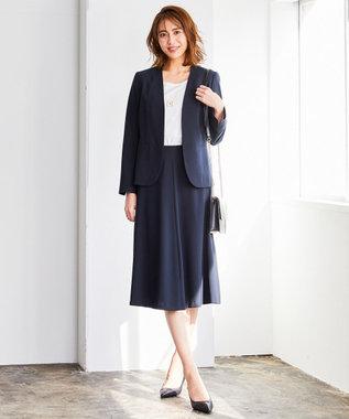 自由区 【洗える】PREP TWILL スカート ネイビー系