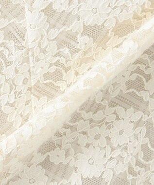 自由区 L 【マガジン掲載】フラワージャカードレース フレアースカート(検索番号F55) ベージュ系9