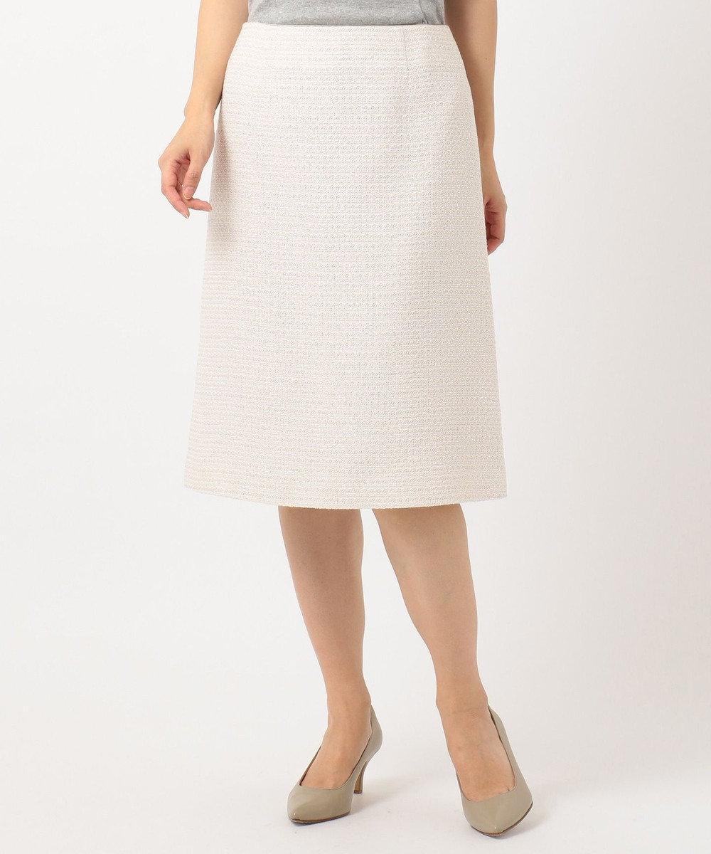 自由区 【マガジン掲載】カラミツイード セミタイトスカート(検索番号A24) シャンパン