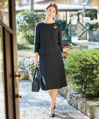 自由区 【マガジン掲載】カラミツイード セミタイトスカート(検索番号A24) ミッドナイト