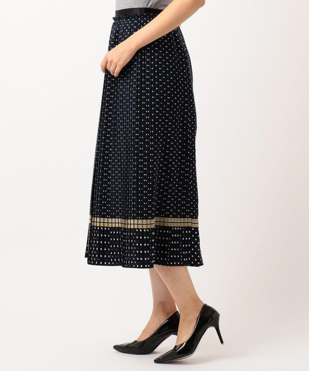 自由区 【マガジン掲載】レイヤードットプリント プリーツスカート(検索番号A44) ネイビー系5