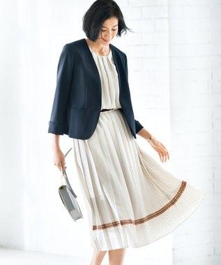 自由区 【マガジン掲載】レイヤードットプリント プリーツスカート(検索番号A44) ベージュ系5