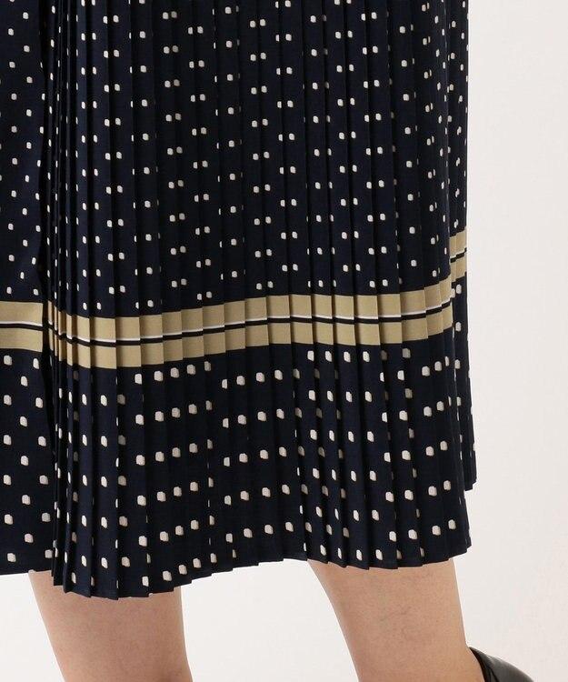 自由区 【マガジン掲載】レイヤードットプリント プリーツスカート(検索番号A44)