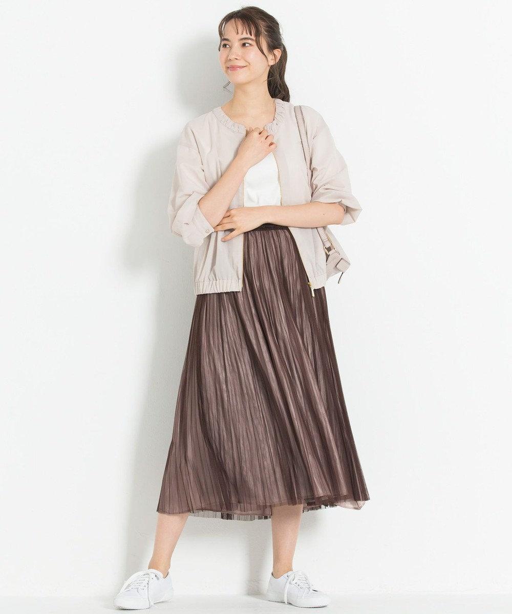 自由区 L 【新色追加】チュールプリーツ リバーシブルスカート(検索番号A47) ピンク