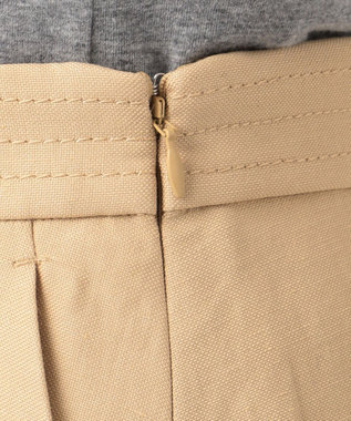 自由区 L 【洗える】LINEN OX スカート キャメル系