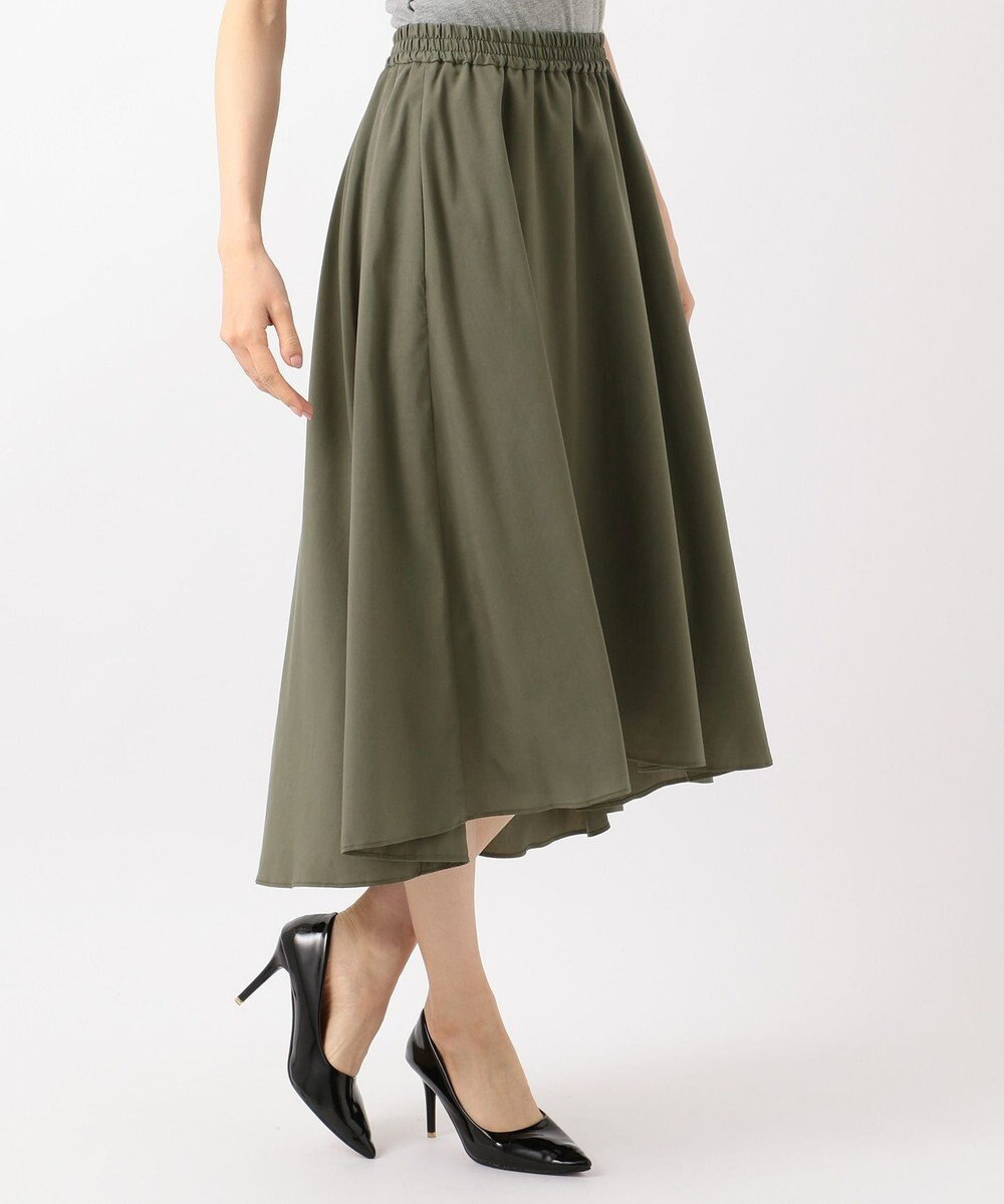 自由区 【WEB限定】STRETCH POPLIN スカート カーキ系