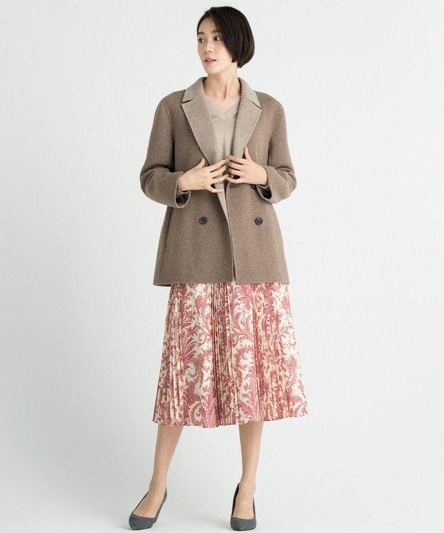 自由区 L 【マガジン掲載】イタリア RATTI ペイズリープリントスカート(検索番号N54)