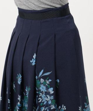 自由区 【洗える】SCARF PRINT スカート ネイビー系6