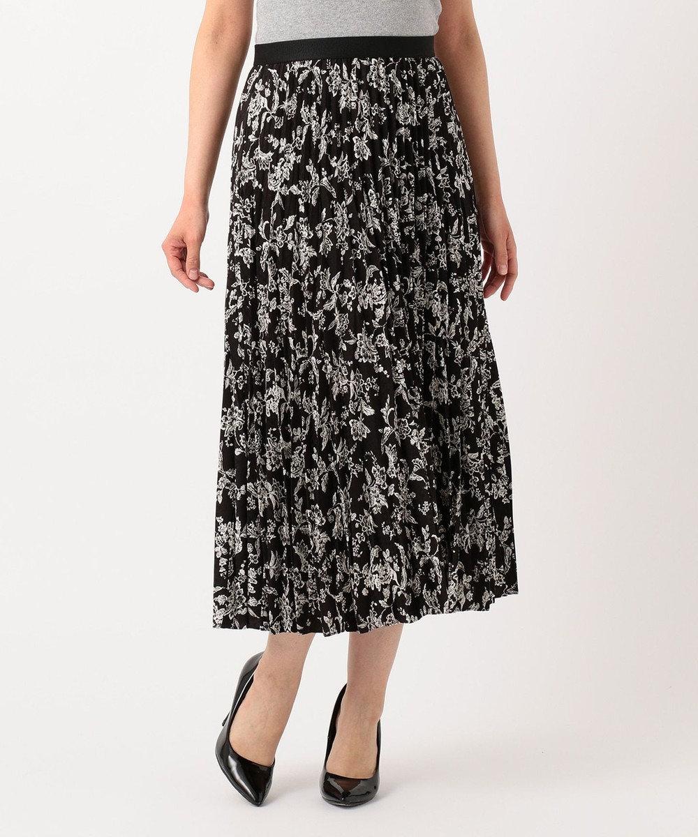 23区 S 【洗える】ジャガードプリントスカート ブラック系1