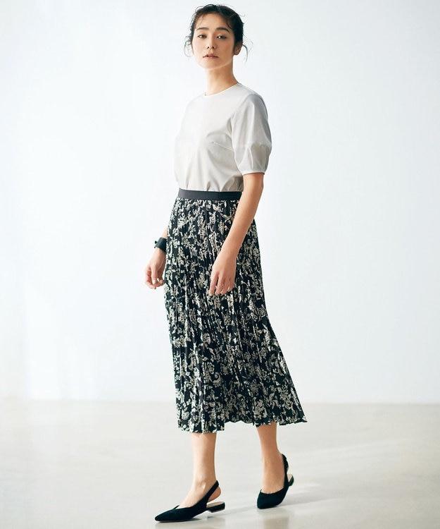 23区 S 【洗える】ジャガードプリントスカート