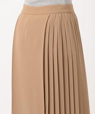 23区 S スムースプリーツツイル スカート キャメル系