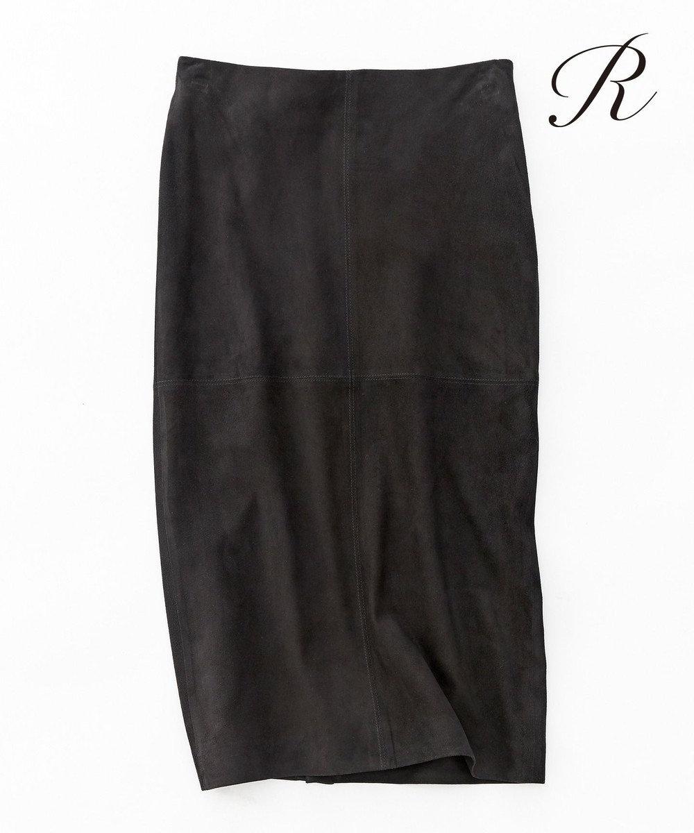 23区 【R(アール)】GOAT SUEDE スカート ブラック系