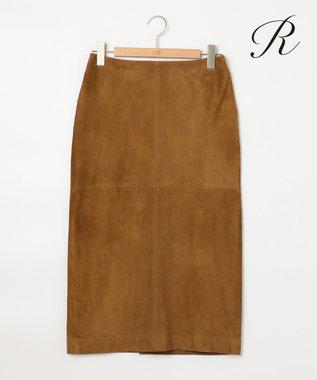 23区 【R(アール)】GOAT SUEDE スカート キャメル系