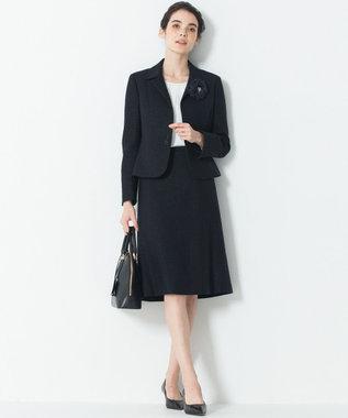 23区 L 【セットアップ対応】ライトシャインツイード スカート ネイビー系