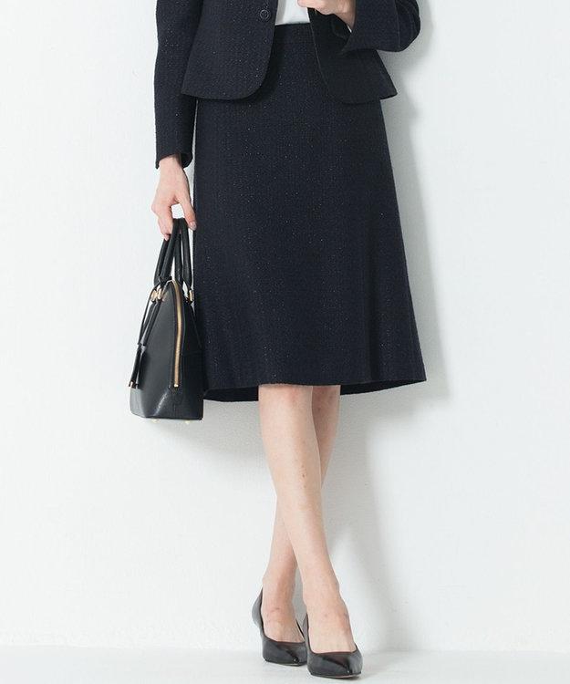 23区 L 【セットアップ対応】ライトシャインツイード スカート