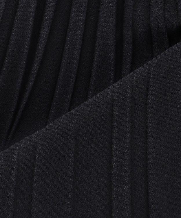 23区 S 【洗える】サテンクレープ プリーツスカート