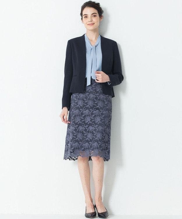 23区 L 【洗える】フラワーケミカルレース スカート