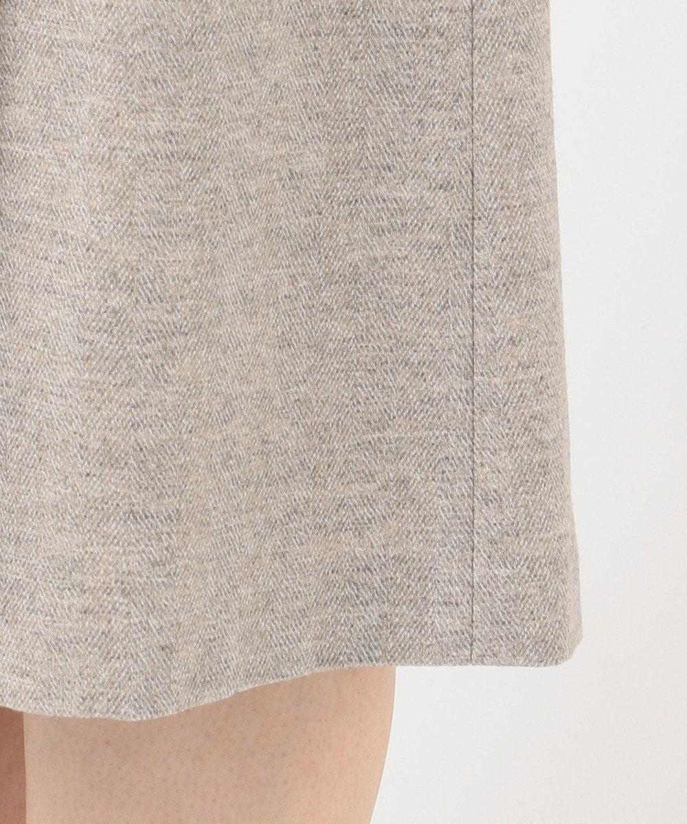 23区 L ツィーディヘリンボーン タック スカート ベージュ系1