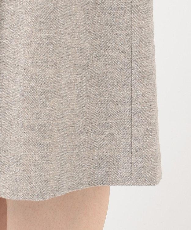 23区 L ツィーディヘリンボーン タック スカート