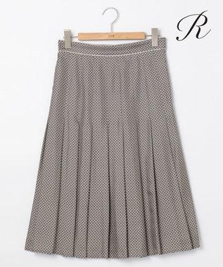 23区 S 【R(アール)】RATTI CHAIN PRINT スカート ブラック系1
