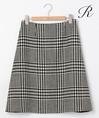23区 【R(アール)】CREVACURE TWEED スカート ブラック系1