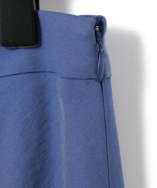 23区 S 【中村アンさん着用】テンセルサテンギャバ フレア スカート(番号2D26) ブルー系