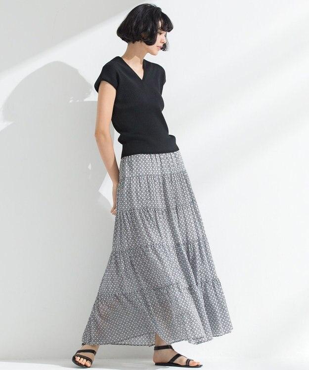 23区 S 【洗える】TILE PRINT LAWN スカート