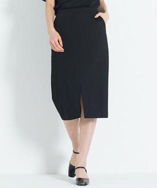 23区 S 【洗える】ハイゲージツイルジャージー スカート ブラック系