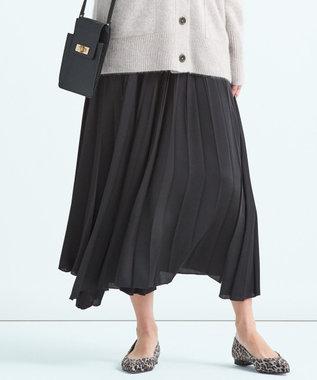 23区 S 【中村アンさん着用】サテンプリーツ スカート(検索番号D24) グレー系