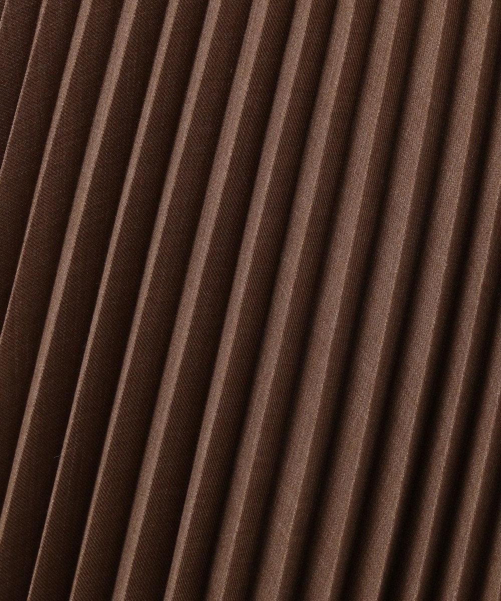 23区 【マガジン掲載】アシンメトリープリーツ スカート(検索番号H49) ダークブラウン系