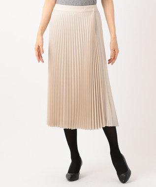 23区 【マガジン掲載】アシンメトリープリーツ スカート(検索番号H49) ベージュ系
