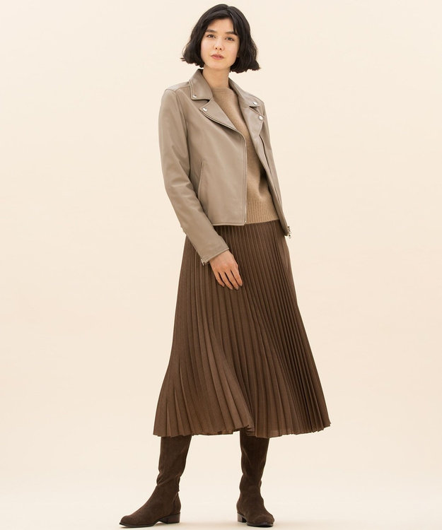 23区 【マガジン掲載】アシンメトリープリーツ スカート(検索番号H49)