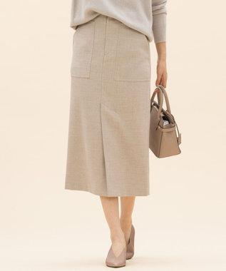 23区 【先行予約】ダブルクロスパッチポケット スカート ベージュ系